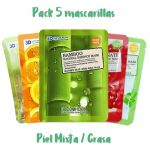 Natural Essence 5 Mask Pack - Combinated or Oily Skin