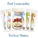 Selección 5 Mascarillas 4D Skinny Fit - Piel seca o madura