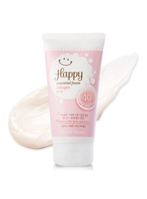 Happy Essential Cleansing Foam Collagen