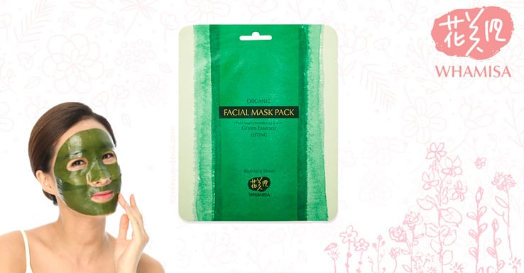 whamisa organic sea kelp facial sheet mask is made of pure natural origins ingredients and of them are organic ingredients