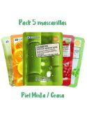 Selección 5 Mascarillas Natural Essence - Piel mixta o grasa